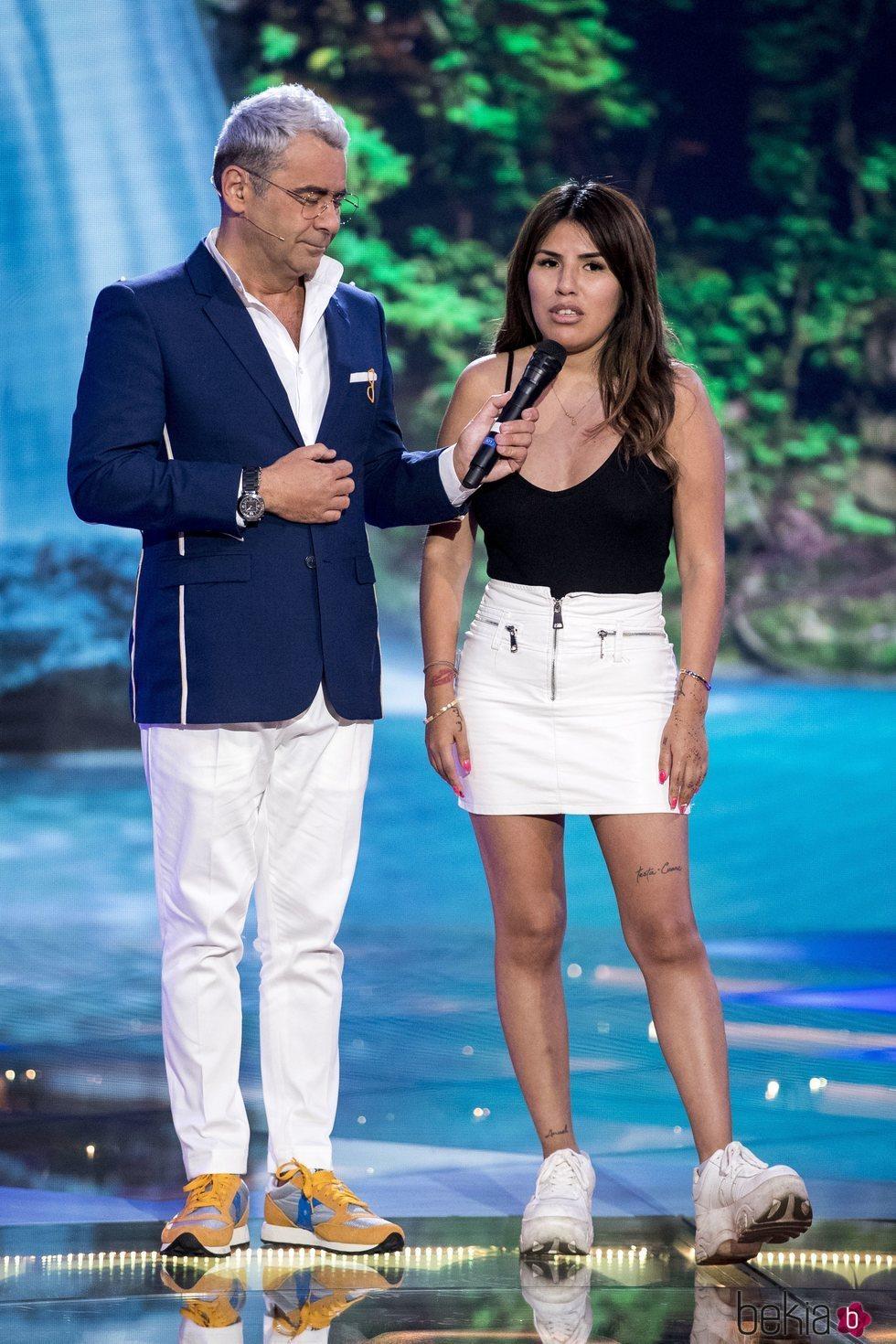 Jorge Javier Vázquez con Chabelita Pantoja en la quinta gala de 'Supervivientes 2019'
