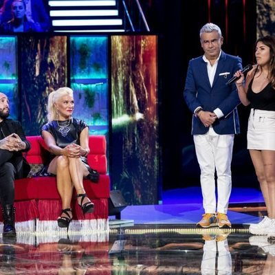 Jorge Javier Vázquez tratando de que Kiko Rivera y Chabelita Pantoja se reconcilien en 'Supervivientes 2019'