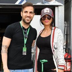 Cesc Fàbregas y Daniella Seeman en el Gran Premio de Fórmula 1 en Mónaco