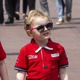Gabrielle de Mónaco en el Gran Premio F1 de Mónaco