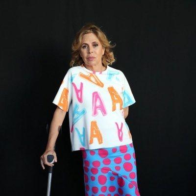 Agatha Ruiz de la Prada en la presentación del espectáculo 'Mucho Arte'