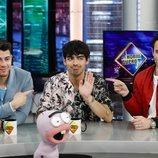 Los Jonas Brothers en su visita a 'El Hormiguero' tras volver juntos