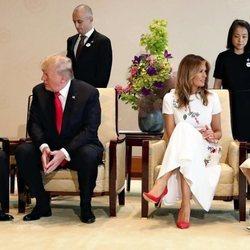 El Emperador Naruhito y su mujer Masako reciben a Donald y Melania Trump
