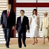 Donald Trump y Melania son recibidos por el Emperador Naruhito de Japón y su mujer Masako