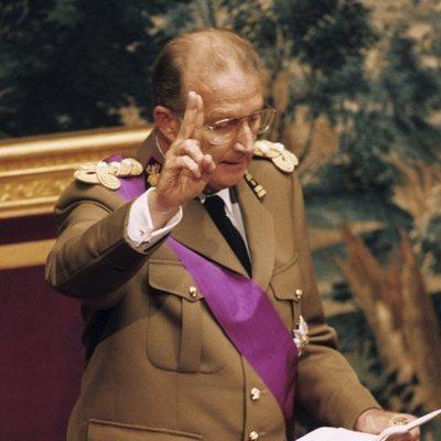 El Rey Alberto de Bélgica haciendo el juramento durante su proclamación