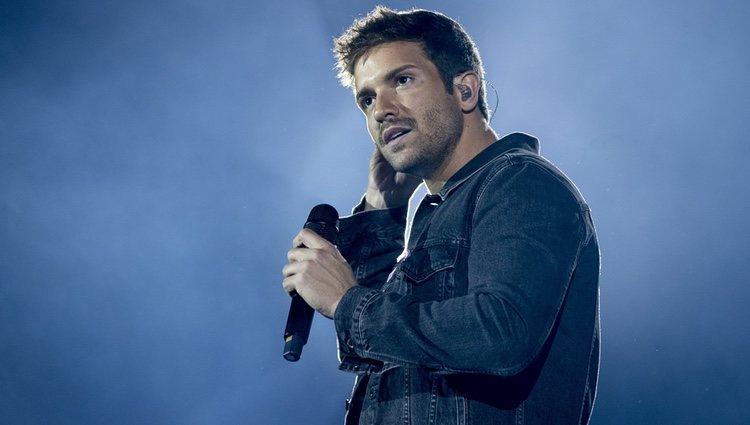Pablo Alborán durante el concierto de Cadena 100 en Madrid