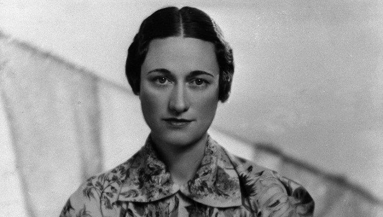 Wallis Simpson posando durante su juventud