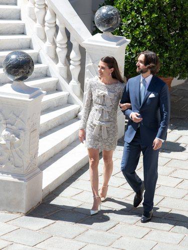 Carlota Casiraghi y Dimitri Rassam en el Palacio Grimaldi en su boda civil