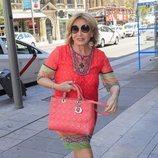Mila Ximénez llegando a la despedida de soltera de Belén Esteban