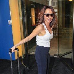 María Patiño llegando a la despedida de soltera de Belén Esteban
