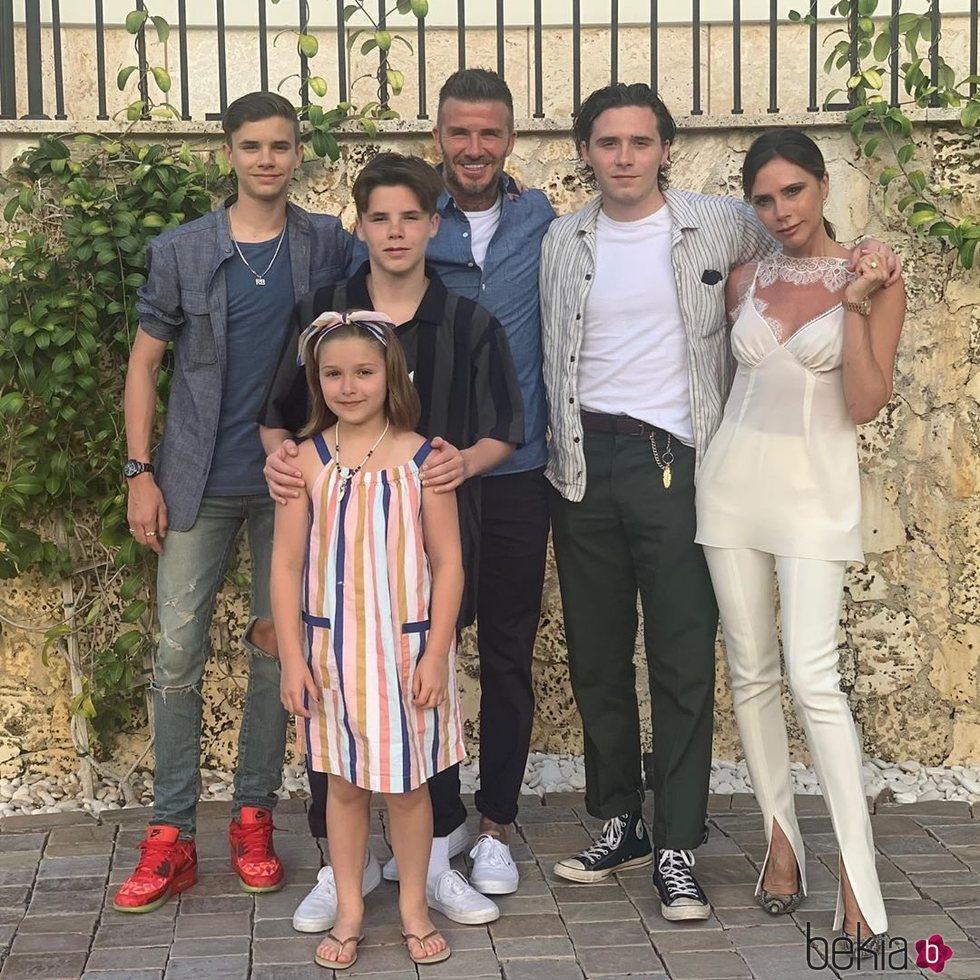 La Familia Beckham de vacaciones en Miami