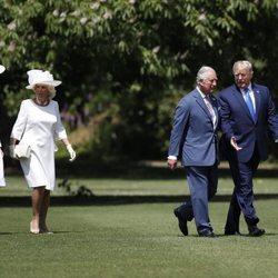 El Príncipe Carlos y Camilla Parker reciben a Donald Trump y Melania Trump en su Viaje de Estado a Reino Unido
