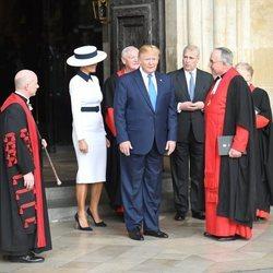 El Príncipe Andrés en la Abadía de Westminster junto con Donald y Melania Trump en su Viaje de Estado a Reino Unido