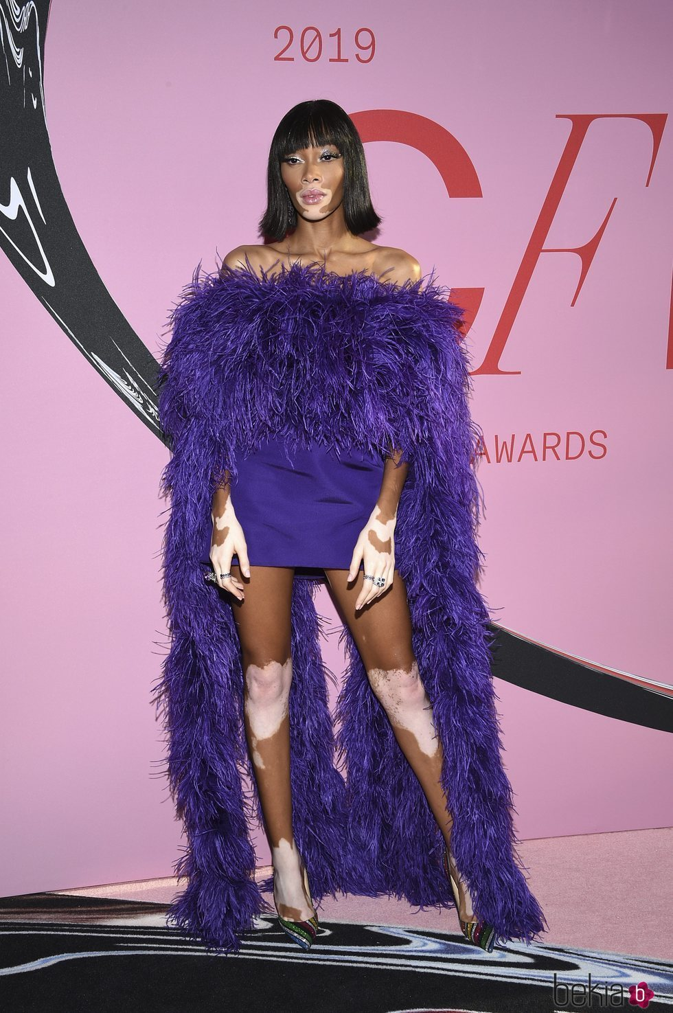 Winnie Harlow en la alfombra roja de los CFDA FASHION AWARDS 2019