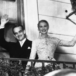 Rainiero de Mónaco y Grace Kelly en su boda civil