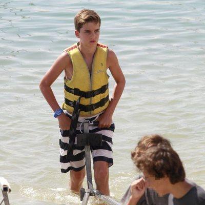 Pablo Urdangarin en un curso de vela en Mallorca
