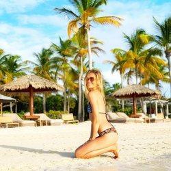 Carla Pereyra en la isla Antigua