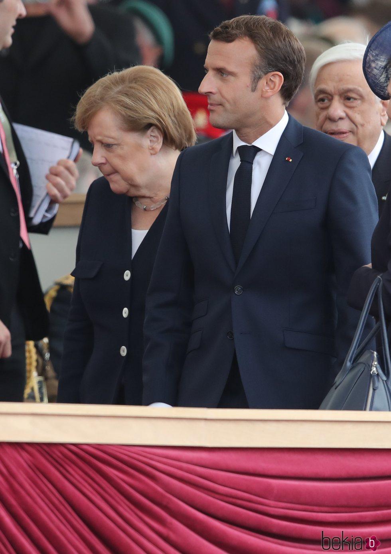 Angela Merkel y Emmanuel Macron en el 75 aniversario del desembarco de Normandía