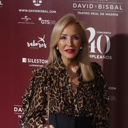 Carmen Lomana en el concierto por el 40 cumpleaños de David Bisbal