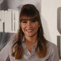 Aitana, sonriente durante la presentación de su disco 'Spoiler'