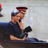 El Príncipe Harry y Meghan Markle en la ceremonia Trooping the Colour 2019