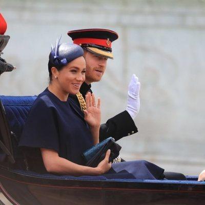 El Príncipe Harry y Meghan Markle en la ceremonia Trooping the Colour 2019