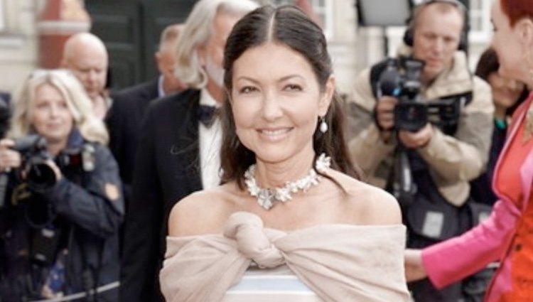 Alexandra Manley en el 50 cumpleaños de Joaquín de Dinamarca