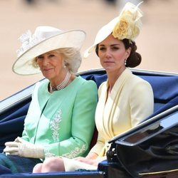 Kate Middleton y Camilla Parker en la ceremonia Trooping the Colour