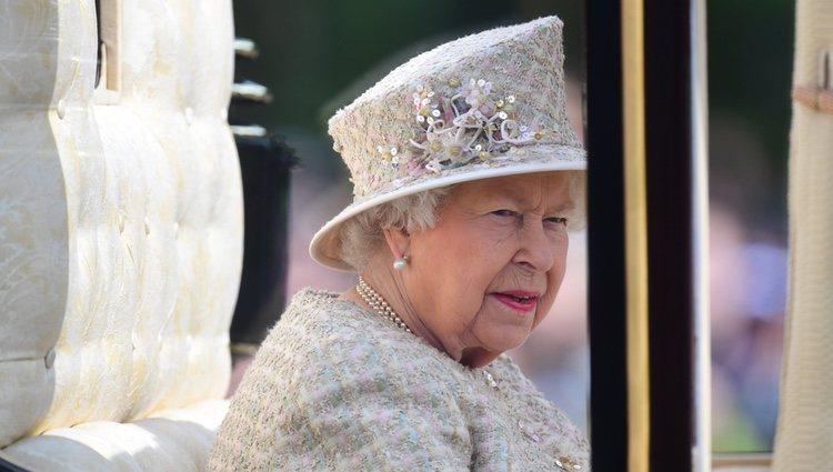 La Reina Isabel II en la ceremonia Trooping the Colour 2019