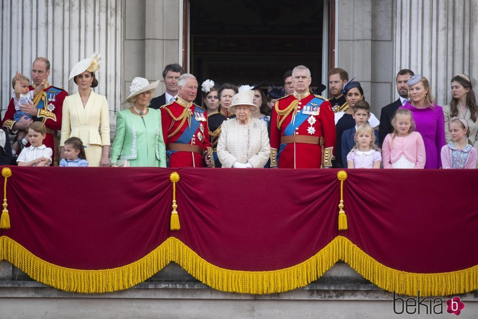 La Familia Real Británica en Trooping the Colour 2019