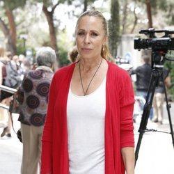 Miriam Díaz Aroca en el tanatorio de Chicho Ibañez Serrador