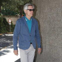 Josema Yuste en el tanatorio de Chicho Ibañez Serrador