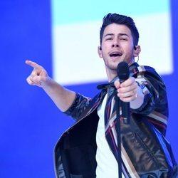 Nick Jonas en un concierto en Wembley