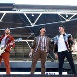 Los Jonas Brothers dando un concierto en Wembley