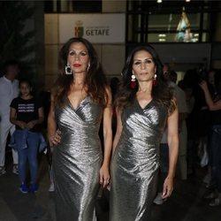 Las Azúcar Moreno antes de un concierto en Getafe
