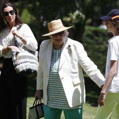 La Infanta Pilar acude junto a Bárbara Cano y uno de sus nietos al 'Family Day 2019'