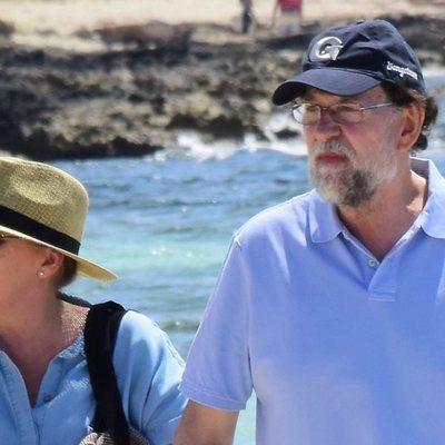 Mariano Rajoy y Elvira Fernández disfrutando de unas vacaciones en Formentera