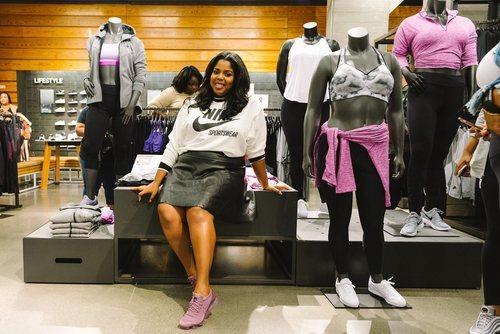 La tienda insignia de Nike en Londres con maniquíes Plus Size