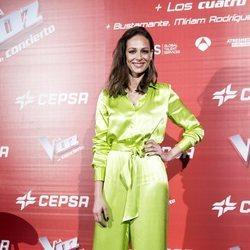 Eva González en la presentación del concierto de 'La Voz'