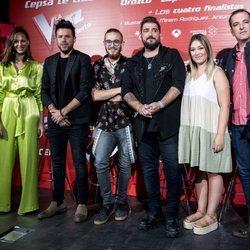 Eva González, Pablo López, Antonio Orozco y los finalistas y ganador de 'La Voz'