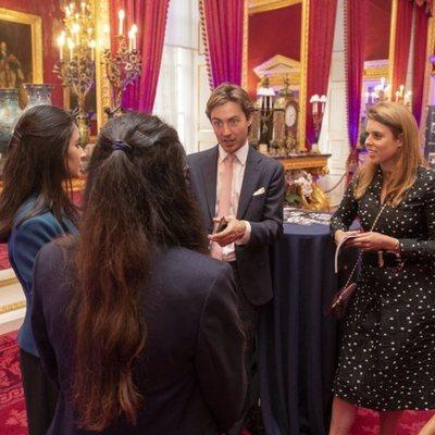 Beatriz de York y Edoardo Mapelli Mozzi en un acto oficial en St James' Palace