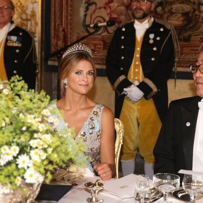 La Princesa Magdalena de Suecia en la cena oficial en el honor al Presidente de Corea del Sur