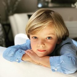 El Príncipe Nicolás de Suecia en la foto de felicitación por su cuarto cumpleaños