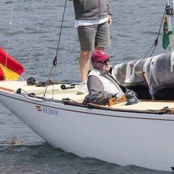 El Rey Juan Carlos en las regatas de Sanxenxo