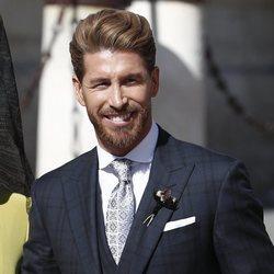Sergio Ramos saliendo del hotel en su boda con Pilar Rubio