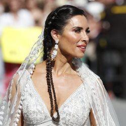 Pilar Rubio llegando a su boda con Sergio Ramos