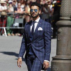 Manuel Cortés a su llegada a la boda de Pilar Rubio y Sergio Ramos