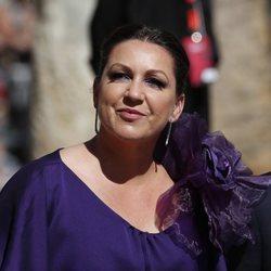 Niña Pastori a su llegada a la boda de Pilar Rubio y Sergio Ramos
