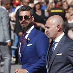 René Ramos a su llegada a la boda de Pilar Rubio y Sergio Ramos