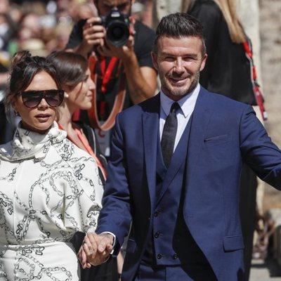 David y Victoria Beckham en la boda de Sergio Ramos y Pilar Rubio